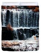 Mountain Stream Waterfall Duvet Cover