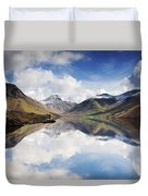Mountains And Lake, Lake District Duvet Cover
