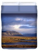 Mountains And Lakes, Dempster Highway Duvet Cover