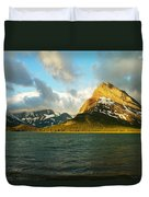 Mountains At Many Glacier Duvet Cover