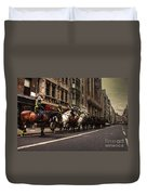 Mounted Police Duvet Cover by Rob Hawkins