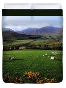 Mourne Mountains From Trassey Road, Co Duvet Cover by The Irish Image Collection