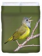 Mourning Warbler Oporornis Philadelphia Duvet Cover