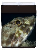 Mouth Of A Variegated Lizardfish, Papua Duvet Cover