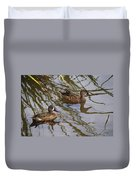 Mr And Mrs Blue Wing Teal Duvet Cover