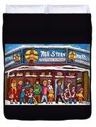 Mr Steer Restaurant Montreal Duvet Cover