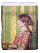 Mrs Robert Bevan Duvet Cover