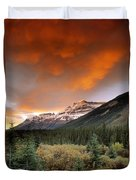 Mt. Amery And Dramatic Clouds, Banff Duvet Cover
