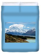 Mt Cook Across Lake Pukaki Duvet Cover