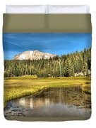 Mt Lassen Reflections Duvet Cover