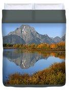 Mt. Moran Reflection Duvet Cover