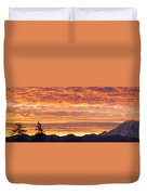 Mt Rainier December Sunrise Duvet Cover