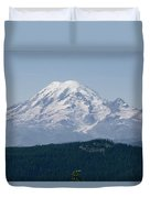 Mt. Rainier Seen From The Yakima Valley Duvet Cover