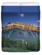 Mt Rundle And The Bow River Duvet Cover