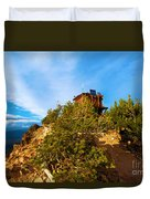 Mt Scott Fire Tower Duvet Cover