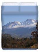 Mt Shasta Autumn II Duvet Cover