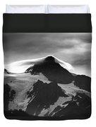 Mt Shuksan Monochrome Duvet Cover
