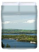 Muckross Lake From Atop Torc Waterfall 2 Duvet Cover