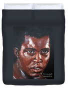 Muhammad Ali Formerly Cassius Clay Duvet Cover