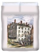 Mulberry Street, Nyc, 1873 Duvet Cover