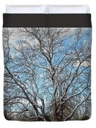 Mulberry Tree In Snow Duvet Cover