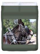 Mule Days - Benson - A Pair Of Aces - Mules Duvet Cover