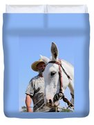 Mules At Benson Mule Day Duvet Cover