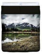 Muleshoe Pond Train Duvet Cover