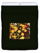 Multi Colored Mums Duvet Cover