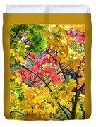 Multicolored Maple Duvet Cover