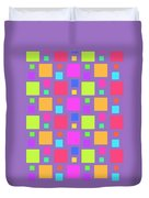 Multicoloured Squares Duvet Cover by Louisa Knight
