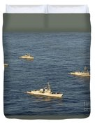 Multinational Navy Ships Move Duvet Cover