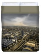 Munich From Above - Vintage Part Duvet Cover