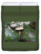 Mushroom In Moss Duvet Cover