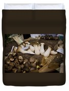 Mushrooms At The Market Duvet Cover by Heather Applegate