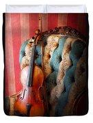 Music - Violin - Musical Elegance  Duvet Cover