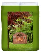 Music Hall And Park Duvet Cover