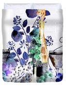 Music With Wine 1 Duvet Cover by Anthony Wilkening