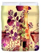 Music With Wine 4 Duvet Cover by Anthony Wilkening