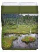Muskeg Bog With Ponds, Mitkof Island Duvet Cover
