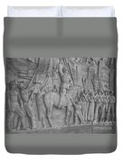Mussolini, Haut-relief Duvet Cover by Photo Researchers