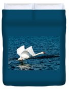 Mute Swan Gaining Momentum Duvet Cover