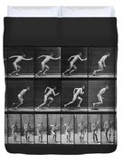 Muybridge Locomotion, Man Running, 1887 Duvet Cover