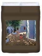 Mykonos Monastery Duvet Cover