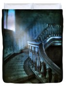 Mysterious Stairway In Old Mansion Duvet Cover