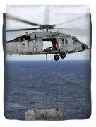 N Mh-60s Sea Hawk En Route Duvet Cover