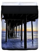 Nags Head Pier - A Different View Duvet Cover by Rob Travis