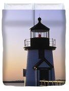 Nantucket Brant Point Lighthouse Duvet Cover