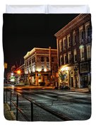 Napanee After Midnight Duvet Cover
