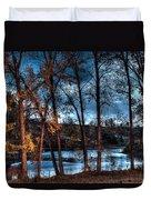 Napanee River At Dawn Duvet Cover